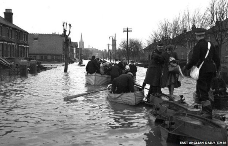 The Harwich Masonic Hall 1953 Great Flood