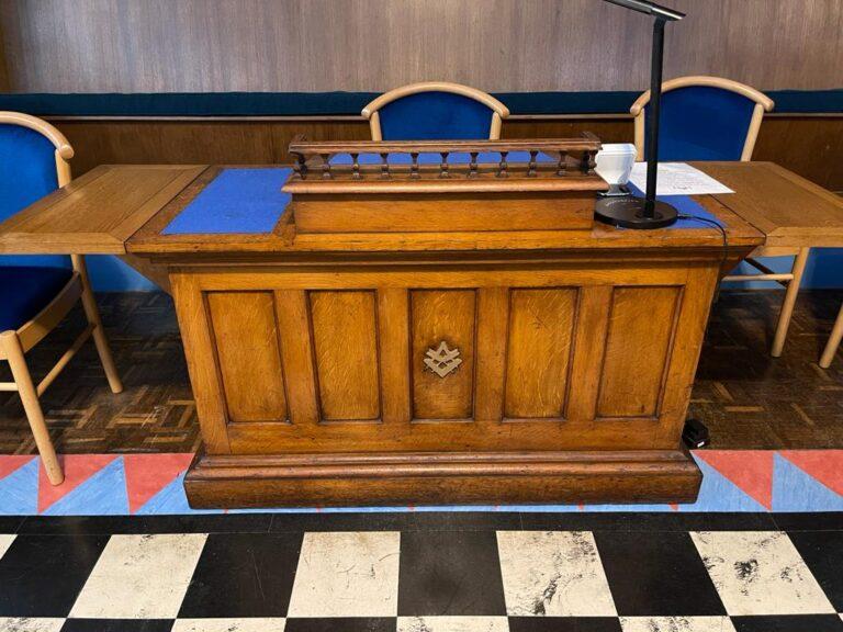 The Harwich Masonic Hall Secretary Table